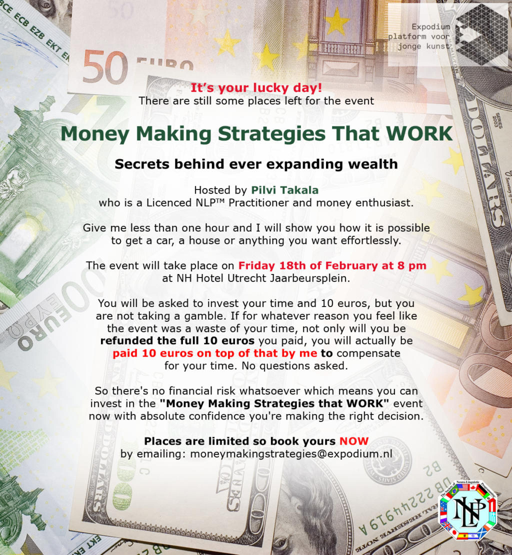 Pilvi Takala Money Making Strategies That WORK